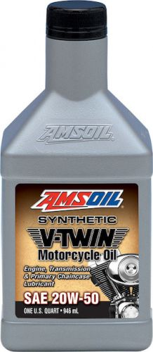 Amsoil Synthetic V-Twin Motorcycle Oil, SAE 20W-50